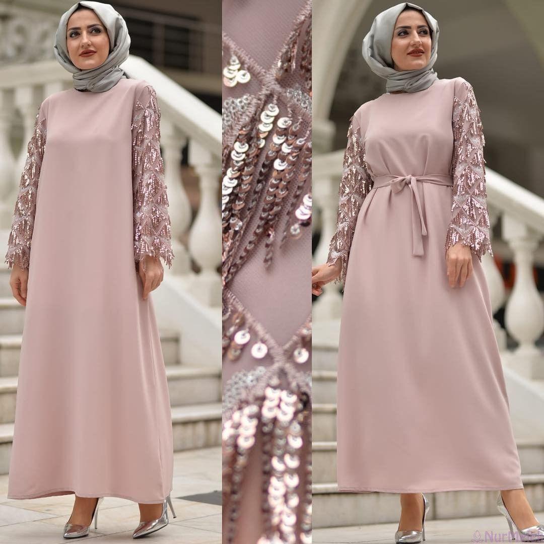 d6d5fd4507f6c 2019'a Damga Vuracak Tesettür Mezuniyet Elbiseleri   moda nel 2019 ...