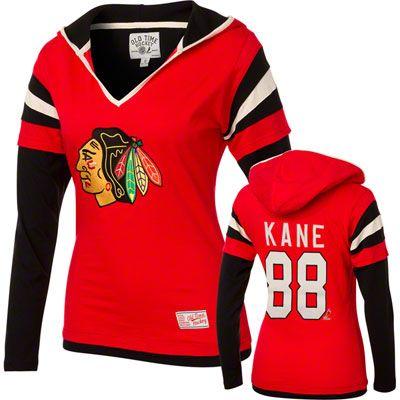 Patrick Kane  88 Chicago Blackhawks Women s Avalon Name and Number  Lightweight Hooded Sweatshirt b02d95ae5