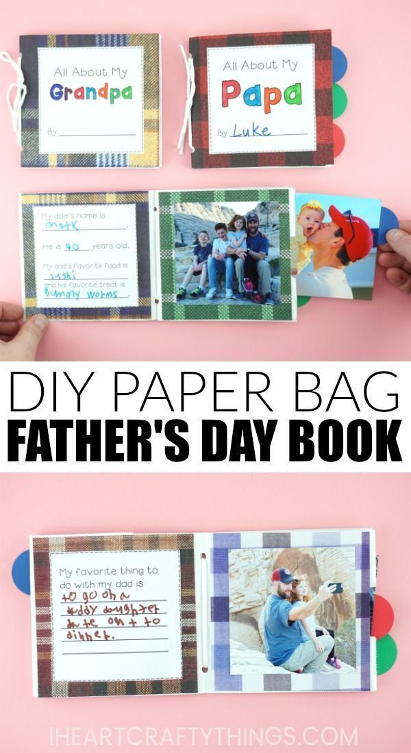 Paper Bag DIY Father's Day Book #grandpagifts