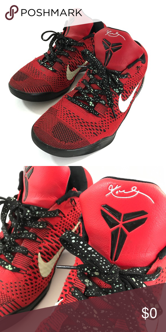 Nike Kobe 9 Elite Low University Red Logo Wear Red Nike Kobe 9
