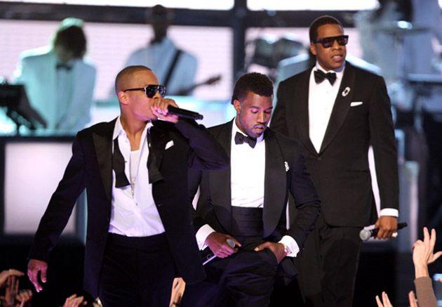 M I A Lil Wayne Jay Z Kanye West T I Swagga Like Us 51st Annual Grammy Awards Kanye West Jay Z Kanye West Kanye