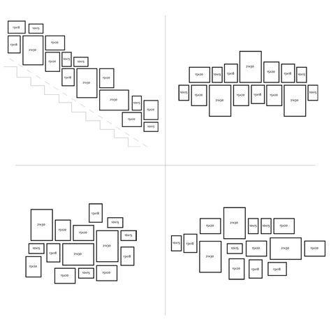 15er Bilderrahmen-Set Modern Weiss MDF Basic Collection #wallcollage