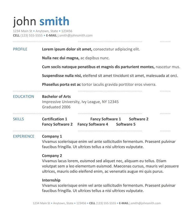 resume for one job Colomb.christopherbathum.co Classic 1