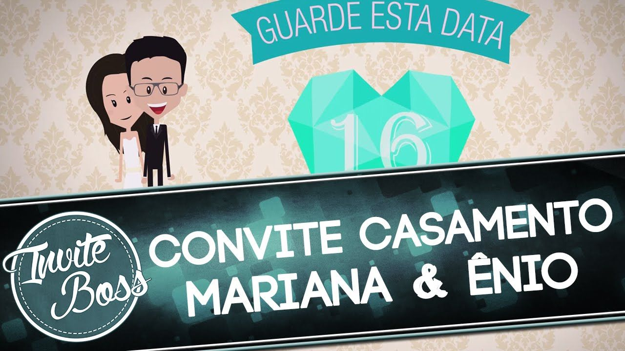 Convite Animado Casamento (Personagem) - Mariana e Ênio