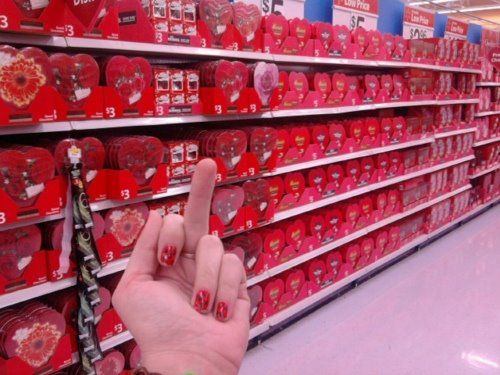 love valentines day fucking stores... I can\'t even shop without ...