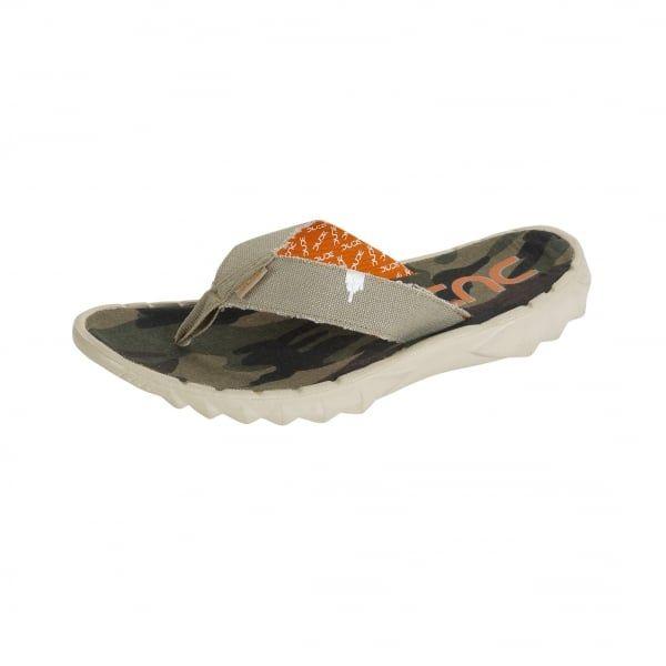 83e1600a56b3 Dude Shoes Sava Funk Beige Canvas Flip Flop