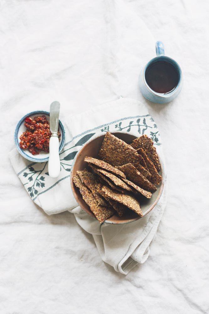 zelf lijnzaadcrackers maken | recepten: bakken in 2019