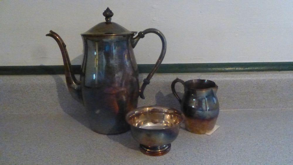 Pilgrim silver plated tea service set  #Pilgrim