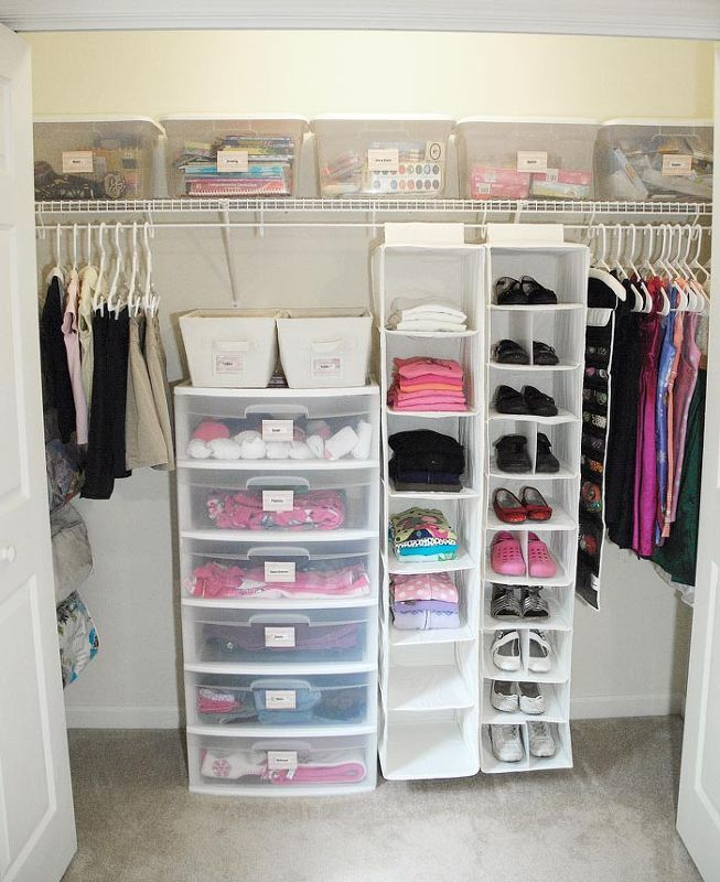 My 7 Total Closet Makeover Craft OrganizationApartment OrganizationGirls Bedroom OrganizationSmall