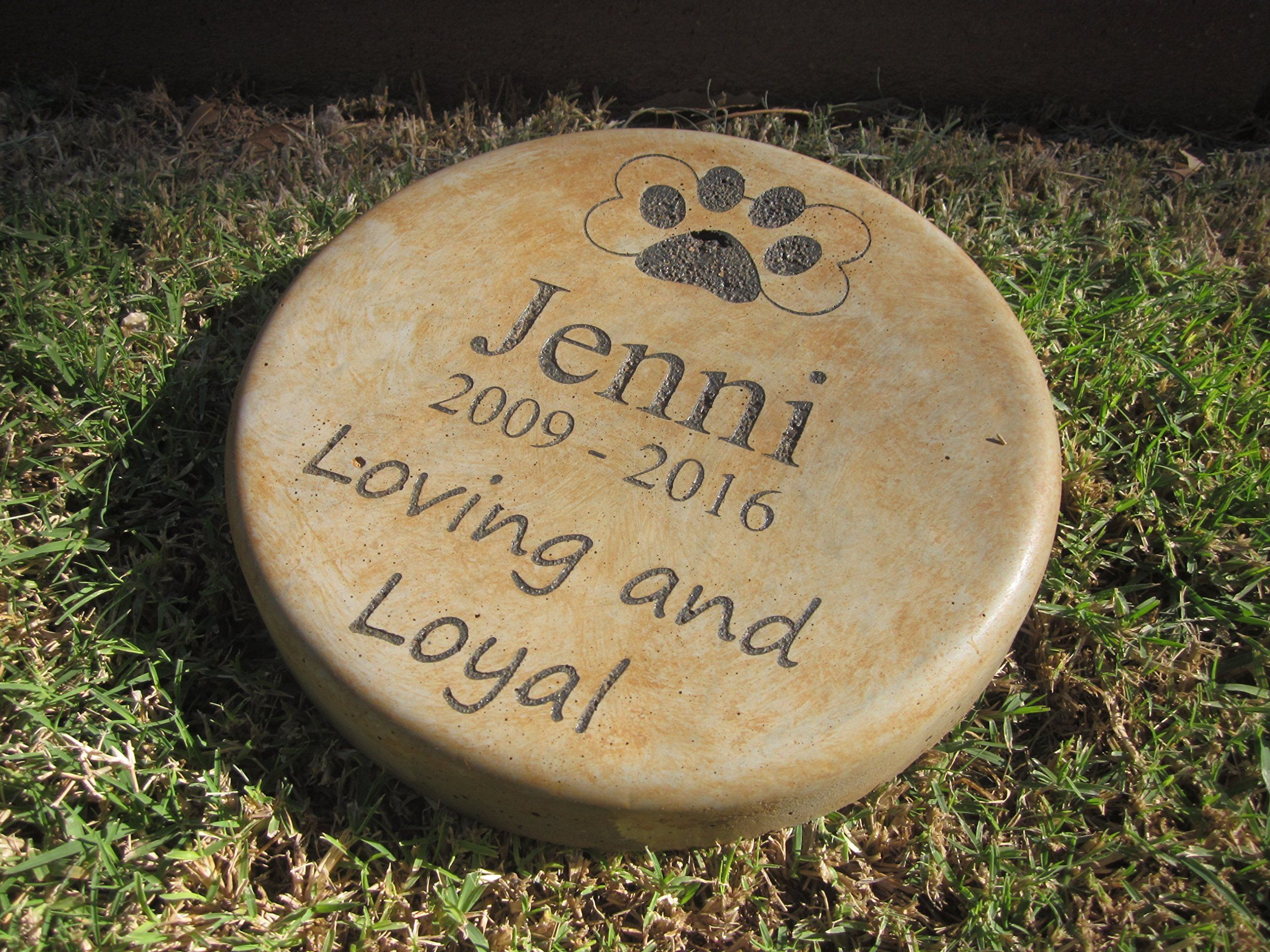 Personalized Engraved Pet Memorial Step Stone 7.5 Diameter Loving ...
