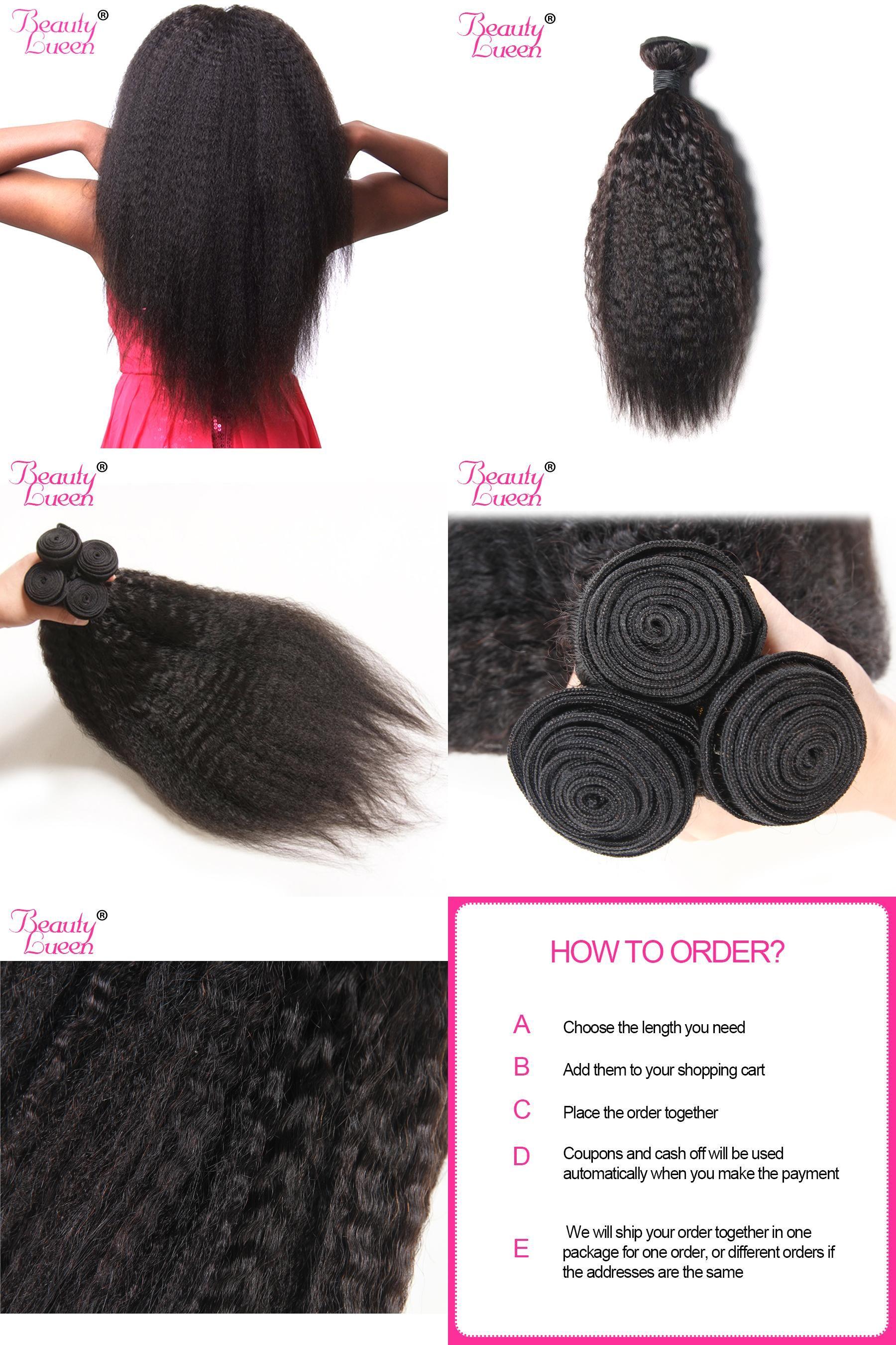 Visit To Buy Kinky Straight Hair Brazilian Hair Weave Bundles