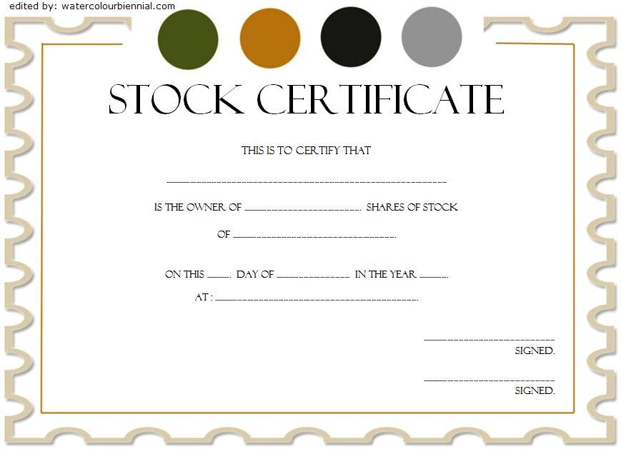 Free Stock Certificate Template Word Printable Editable And Customizable Certificate Templates Stock Certificates Certificate