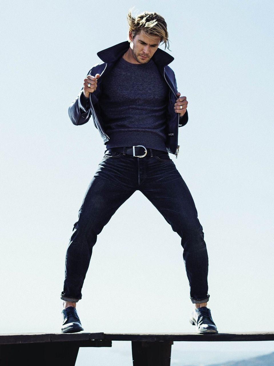 What to Wear Today: A leather jacket that makes you feel like the manliest man among men.