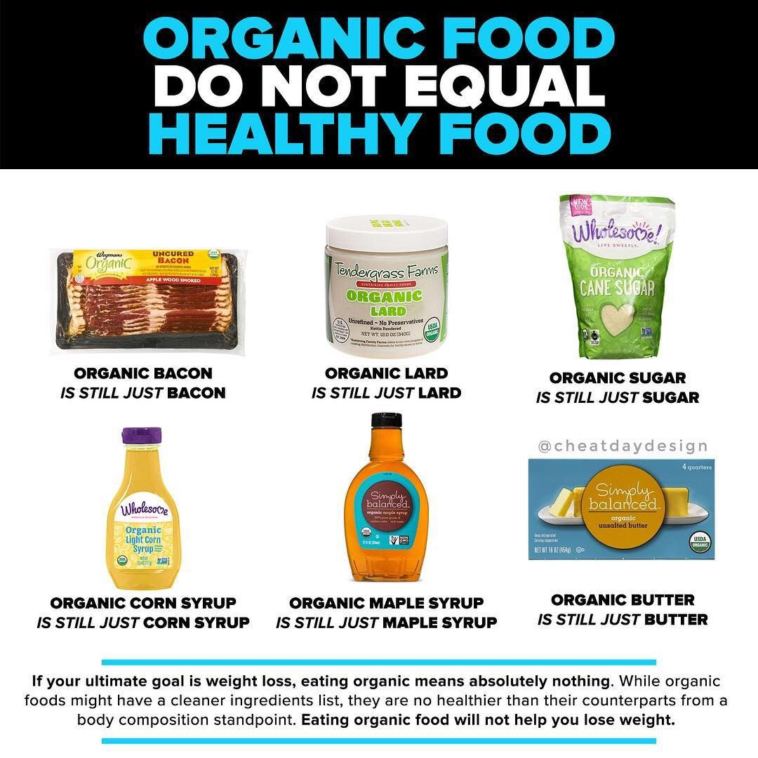 Just because a food is organic it does not mean its