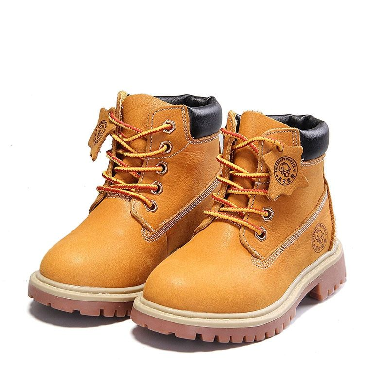 Kids Boy Girls Martin Boots Toddler Babys Hiking Ankle Boots Casual Shoes Sizes