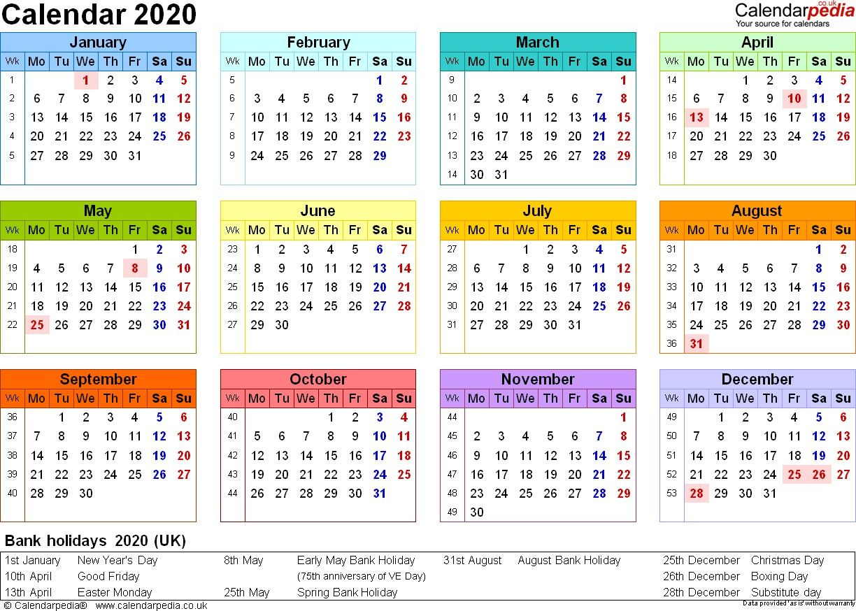 The Best 2020 Calendar Uk
