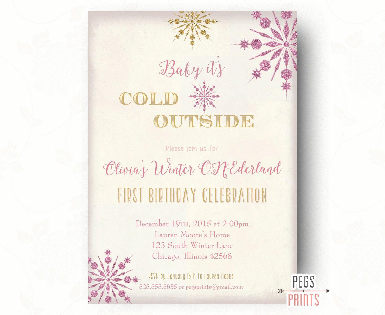 Winter Wonderland Birthday Invitation - Winter Onederland Birthday ...