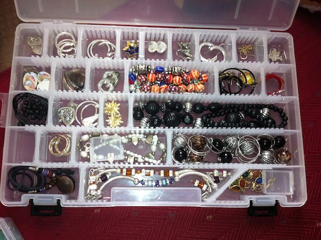 Jewelry in a tackle box Do It Like RedGreen Pinterest Tackle