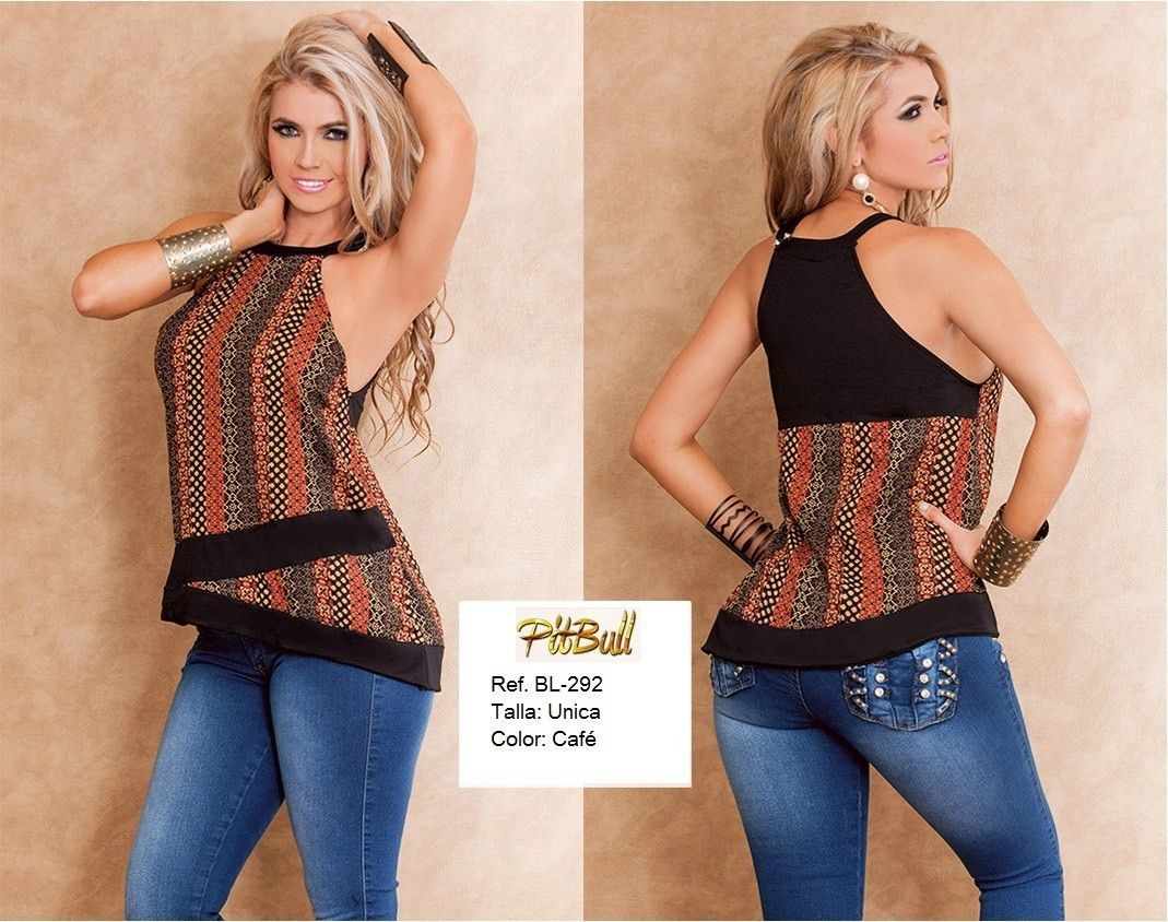 Blusa de moda PitBull +Modelos en: http://www.ropadesdecolombia.com/index.php?route=product/category&path=75 #blusas #moda #tops #ropa
