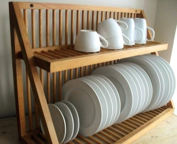Wall Mounted Kitchen Plate Storage Rack, Plate Storage Rack