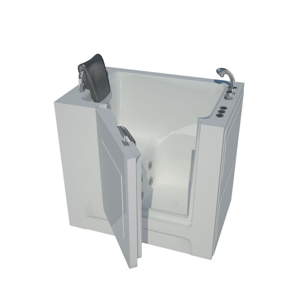 Badezimmer dekor billig  ft inch right drain walkin whirlpool bathtub in white