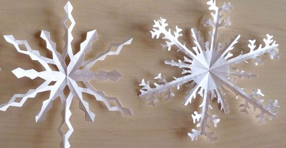 Flocons en papier à plier et découper – Nouveaux modèles