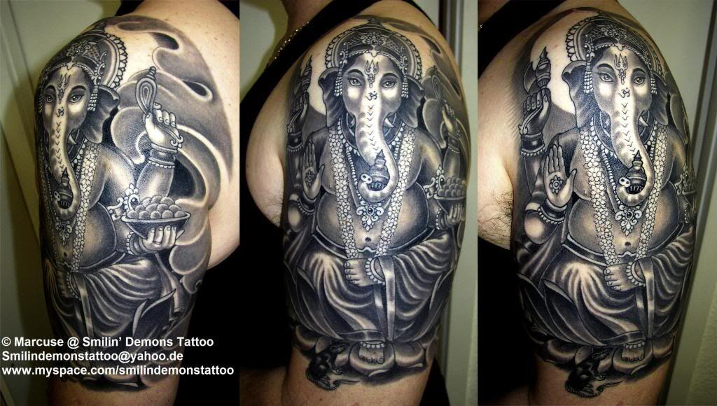ganesh tattoo sleeve - photo #10