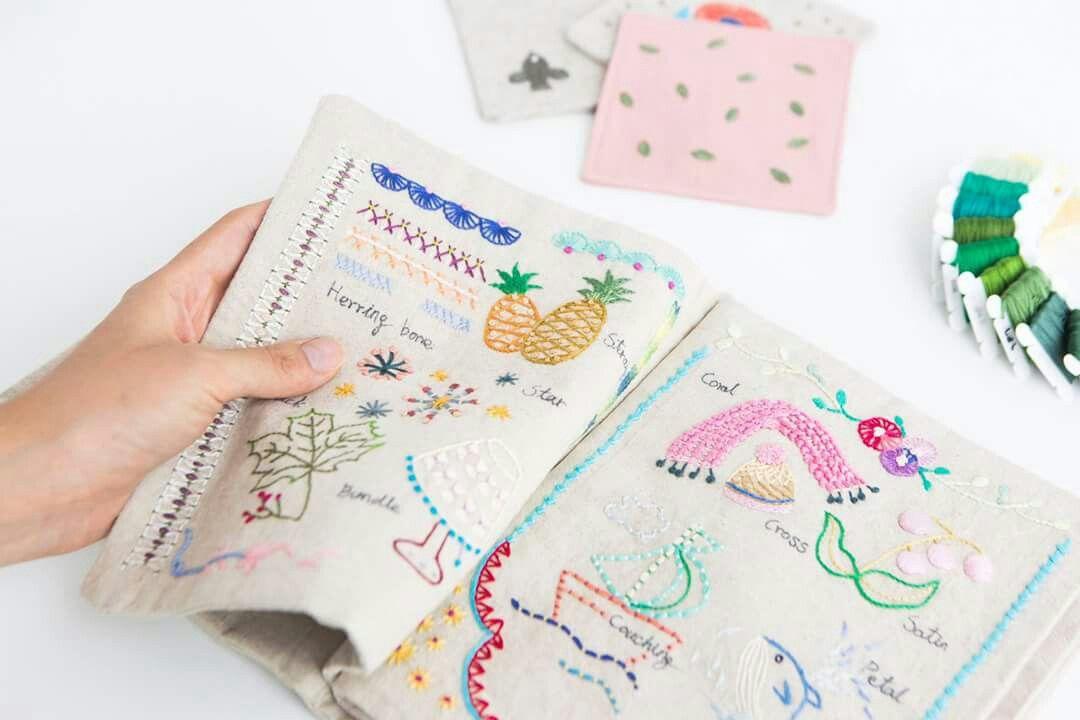 #프랑수자수 #스티치북 #french #embroidery #stitch #sample book