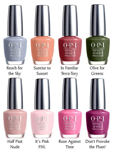The amazing color selection from Infinite Shine by OPI. 30-all new ...