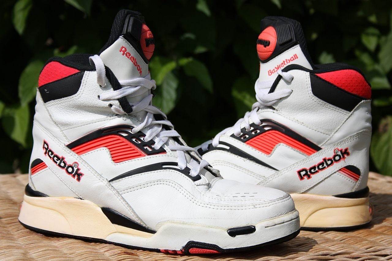 retro reebok pump trainers edge