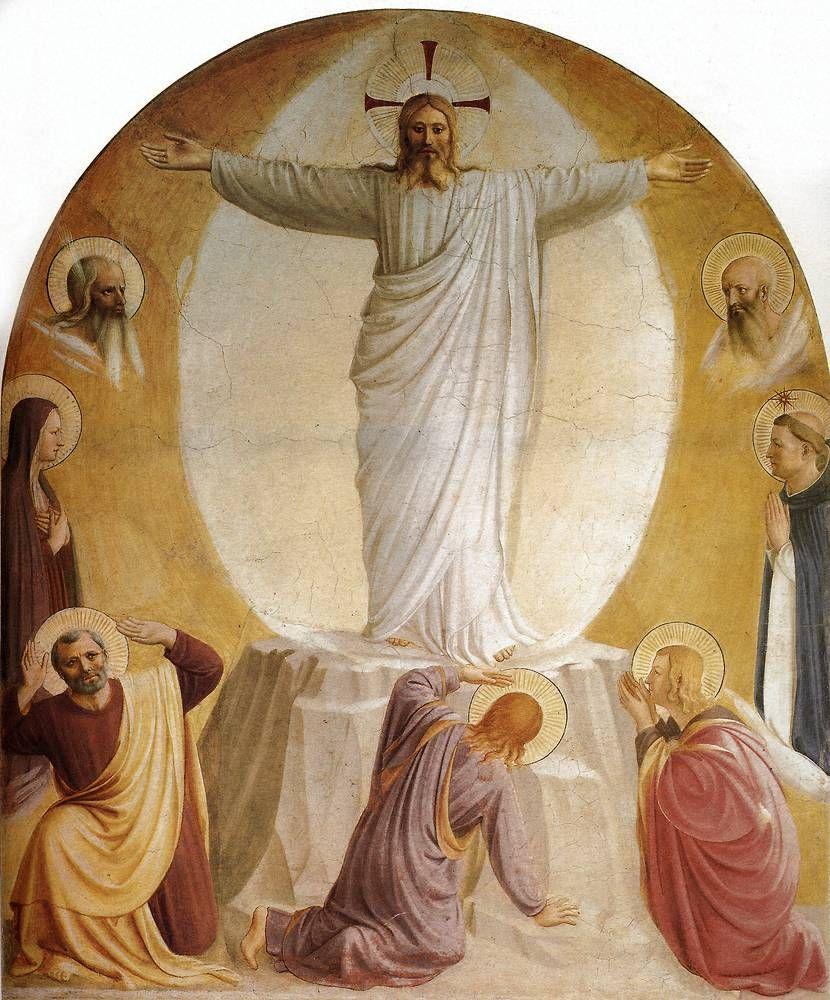 BEATO ANGELICO - Trasfigurazione - affresco - 1438-1440 - cella n. 6 - Convento-Museo N. di San Marco, Firenze