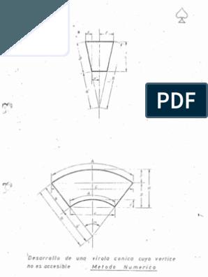 Trazado De Caldereria Formas Geométricas Triángulo Caldereria Calderería Metalmecanica