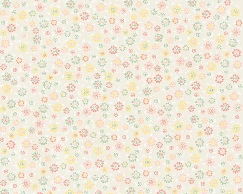 Livingwalls Vliestapete Landhausstil Blumen Beige Creme Gelb Grun 362922 Tapeten Tapezieren Tapetenmuster