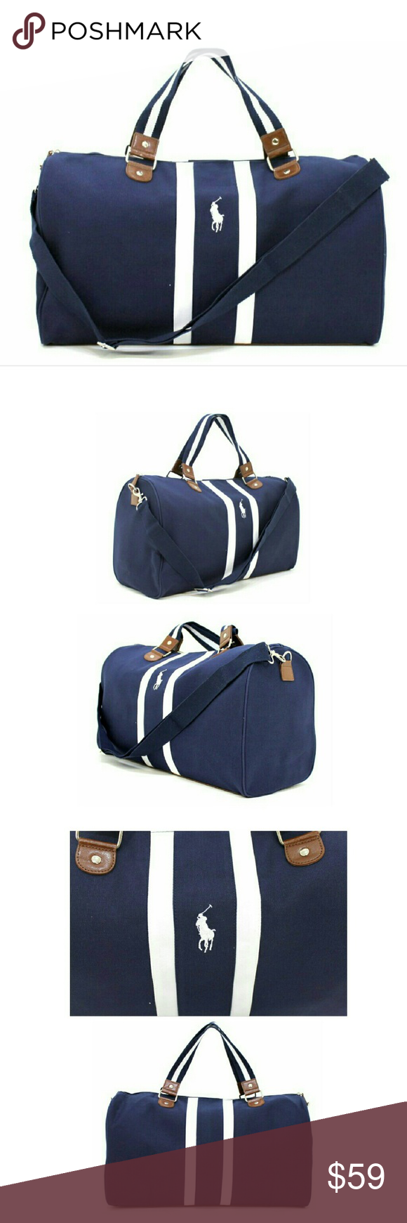Ralph Lauren Polo Blue Navy White New Weekend Bag New Ralph Lauren Polo  Dark Navy Blue White Weekend Travel Gym Holdall Bag Sporty, stylish and  masculine, ... c7e86f86e10