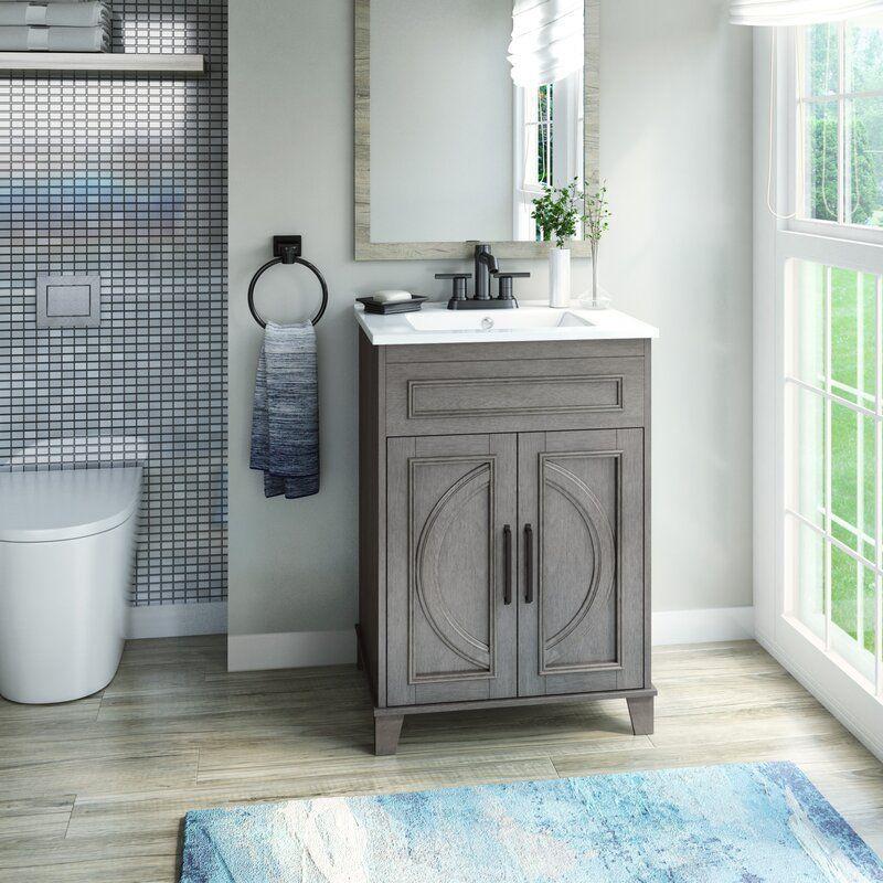 Hartzler 24 Single Bathroom Vanity Set Single Bathroom Vanity Bathroom Vanity Small Bathroom Vanities New top ceramic bathroom size