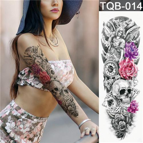 Full Arm Sleeve Tattoo Waterproof Temporary Sticker Third Anniversar Accom Fake Tattoo Sleeves Arm Sleeve Tattoos Full Sleeve Tattoos