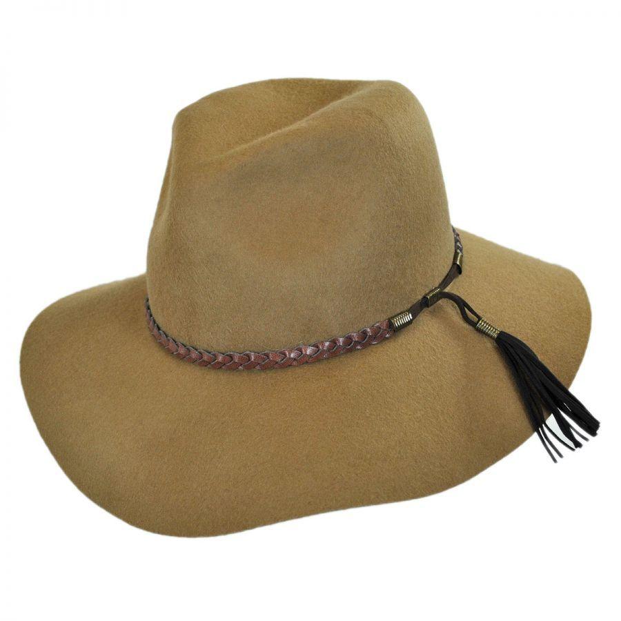 Brooklyn Hat Co Gemma Wool Felt Rancher Floppy Fedora Hat RETAIL  90~WISH  PRICE  45 4704d67bc30