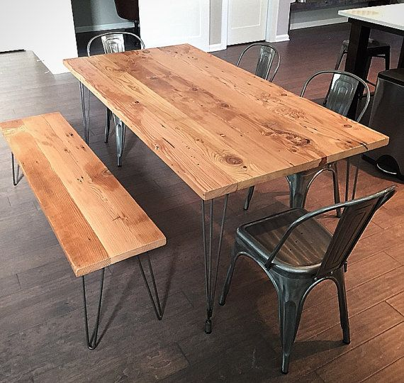 Reclaimed Wood Dining Table With, Reclaimed Wood Furniture Portland