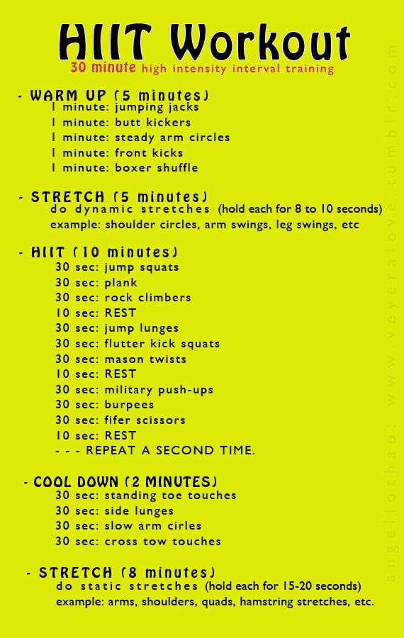20 Hiit Weight Loss Workouts That Will Shrink Belly Fat Exercises
