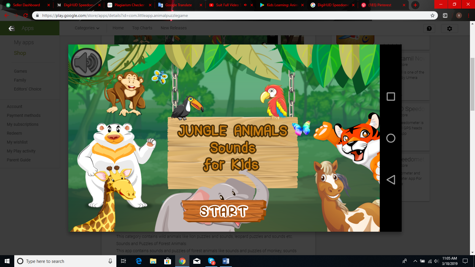 Animal Puzzle Game With Sounds | Wild animal sounds, Animal sounds, Pet  birds