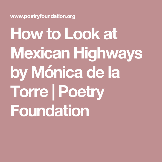 Mexican Poems 1
