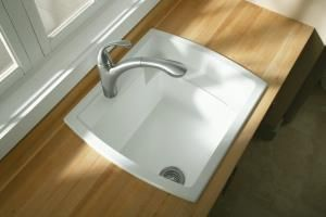Drop In Laundry Room Sink.Sterling Latitude Laundry Sink With Integrated Shelf Drop