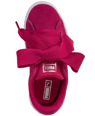 Puma Little Girls  Suede Heart Casual Sneakers from Finish Line - Pink 2.5 b2ce04966