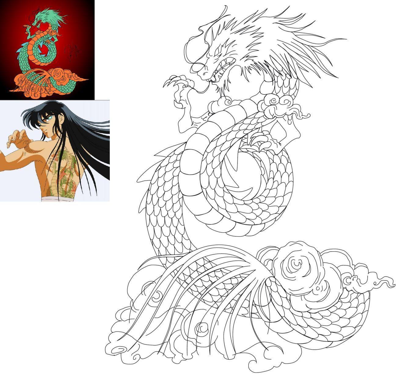 Mi tatuaje del dragon de Shiryu ya cicatrizado | Dragon de, El ...