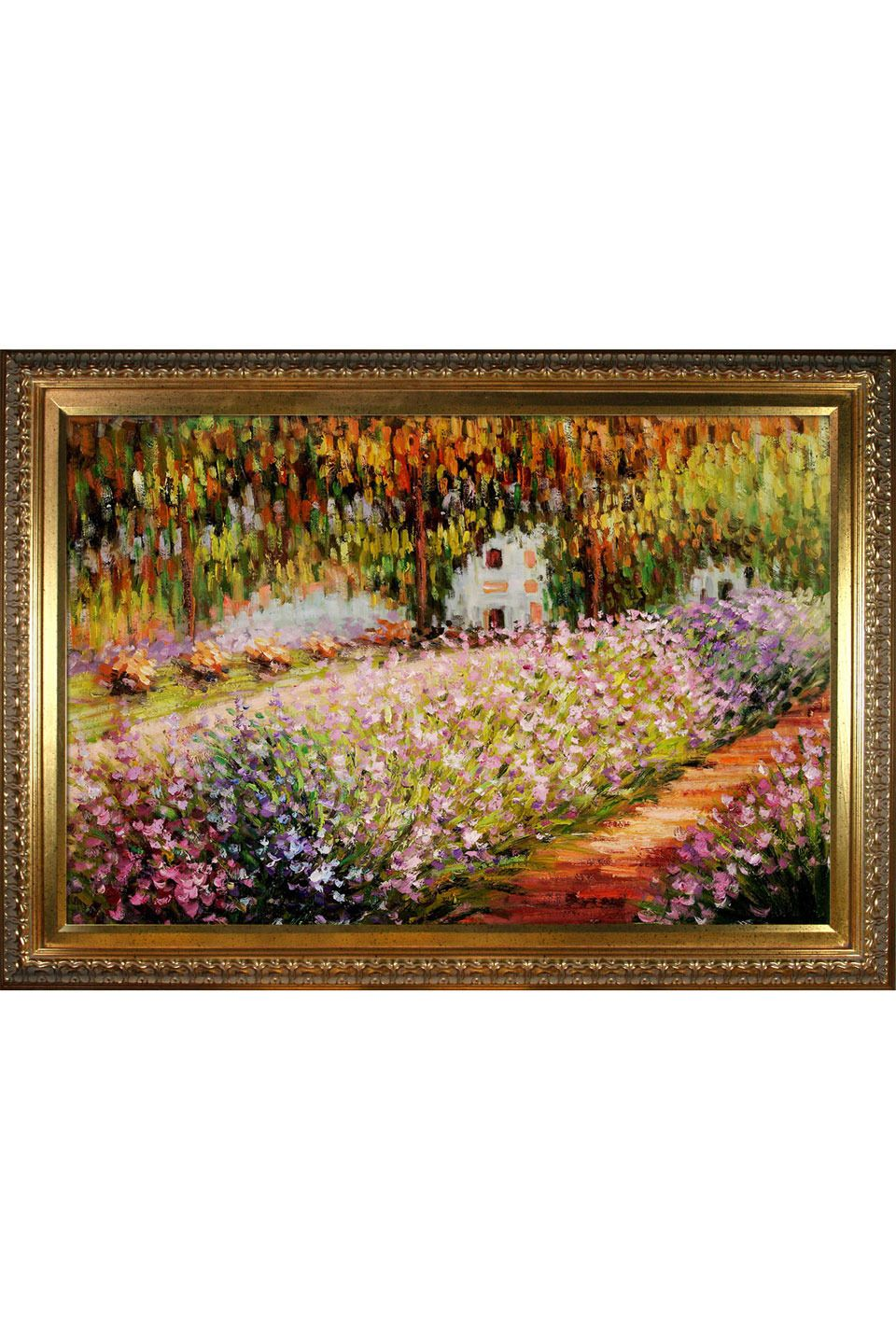 Claude artists garden at giverny oil on canvas 24