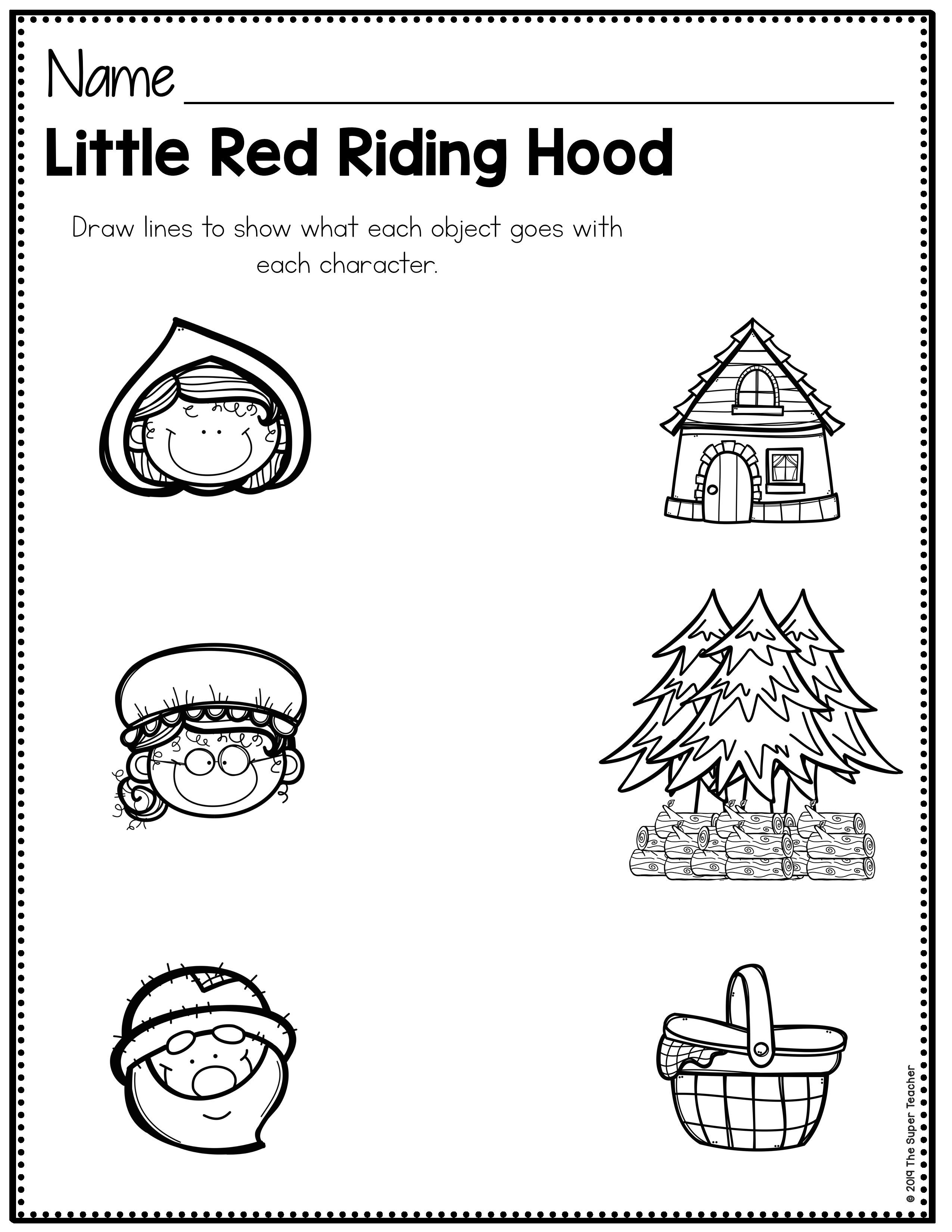 These Little Red Riding Hood Printables Are Awesome For Teaching Story Elements Like Character Sett Red Riding Hood Story Teaching Story Elements Story Retell