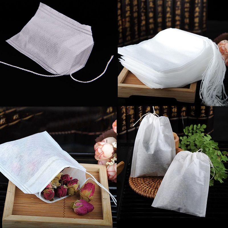 Hot Sale 100Pcs/Lot 5.5 x 6CM Empty TeaBags With String Heal Seal Filter Paper for Herb Loose Tea Bolsas * Encontrar productos similares haciendo clic en la VISITA botón
