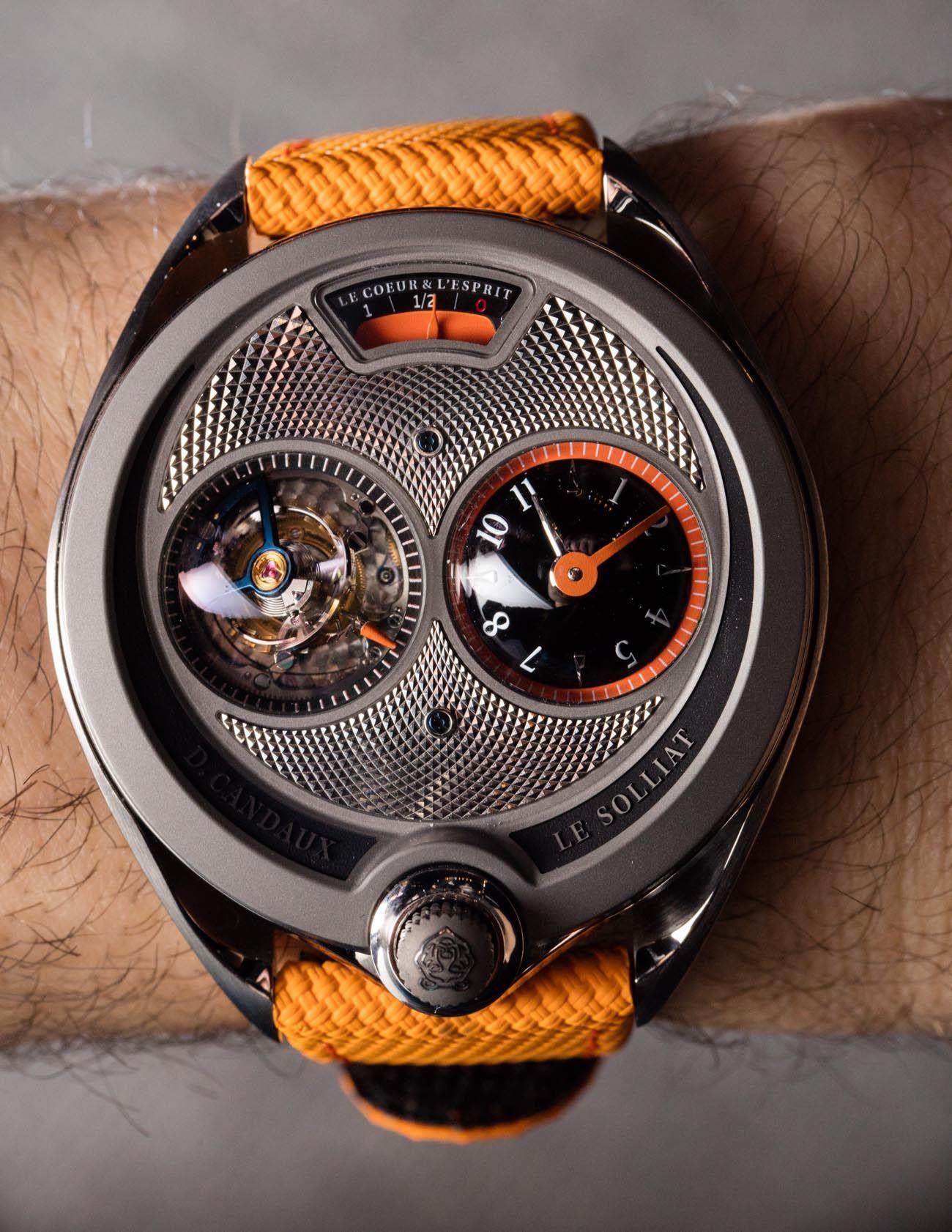 David Candaux DC 6 Solstice Titanium Half Hunter 1740 Watch