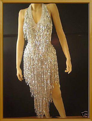 CUSTOM LATIN SALSA SHINNY FRINGE DRAG QUEEN DANCE DRESS | Clothing, Shoes & Accessories, Dancewear, Dance Shoes | eBay!