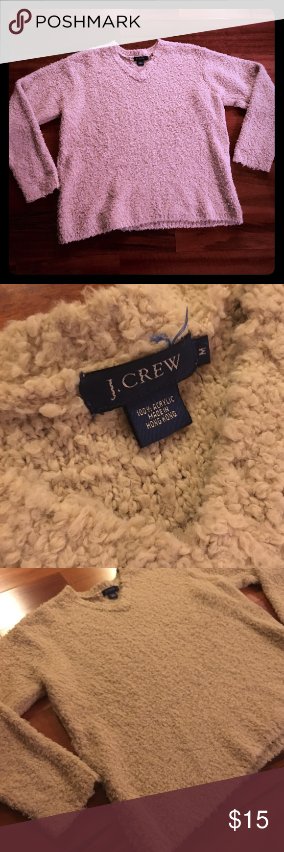 J. Crew sweater Cute oatmeal color v-neck J. Crew sweater. Great condition. J. Crew Sweaters V-Necks